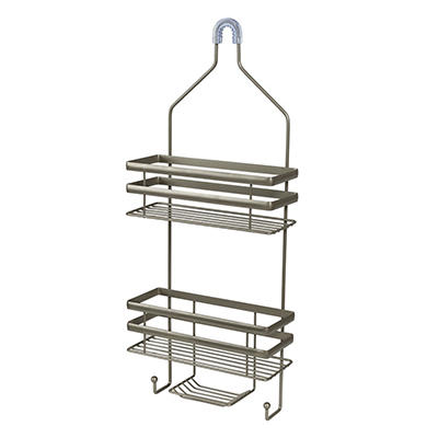 Honey-Can-Do Flat Wire Steel Shower Caddy - Gray