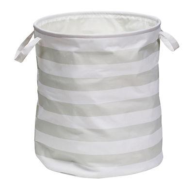 Honey-Can-Do Explore + Store Collection Stripe Hamper - Gray