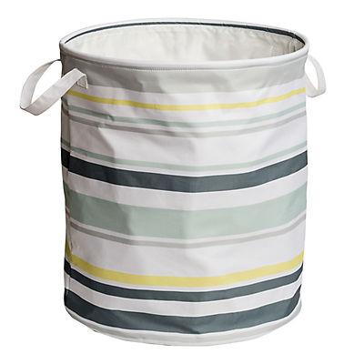 Honey-Can-Do Explore + Store Collection Multi-Stripe Hamper