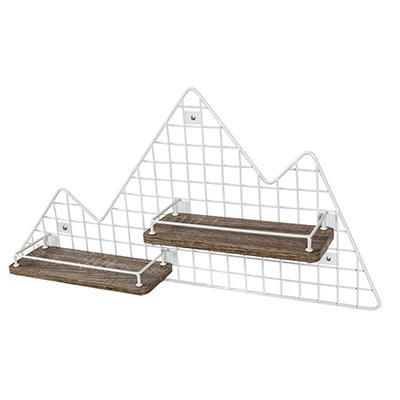 Honey-Can-Do Explore + Store Collection Mountain Shaped Wall Shelf