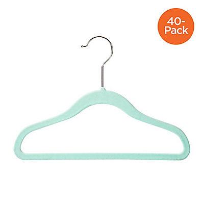 Honey-Can-Do Kids Flock Hangers, 40 pk. - Teal