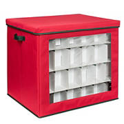 Honey-Can-Do 120-ct. Ornament Storage Container - Red