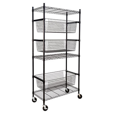Honey-Can-Do Sports Equipment Storage Shelving Unit - Black