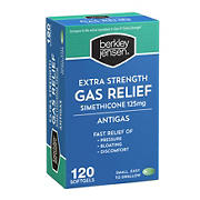 Berkley Jensen Extra Strength Gas Relief Softgels, 120 ct.