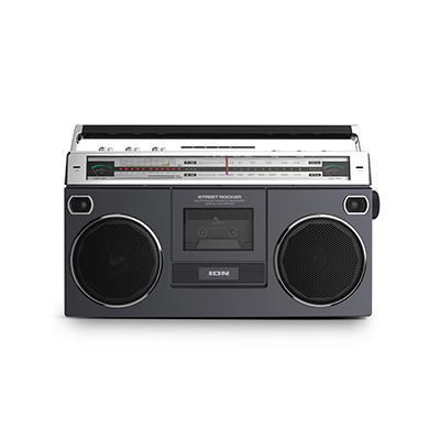 ION Audio Street Rocker Retro Portable Stereo Boombox with Wireless Streaming