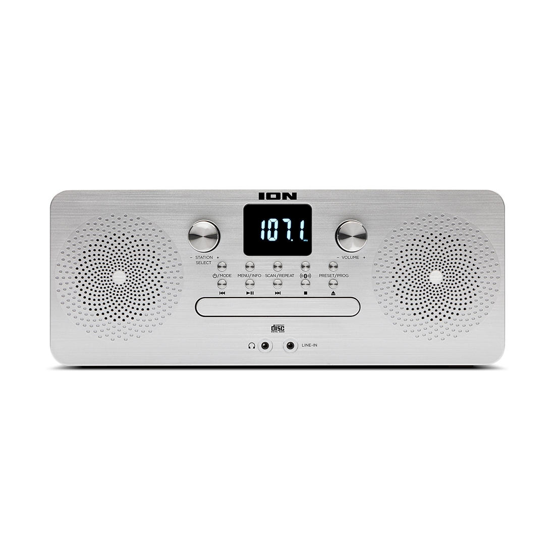 Under Kitchen Counter CD Player with Radio and Bluetooth,Xmas Gift Music Silver