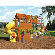 KidKraft Abbeydale Clubhouse Swing Set and Play Set