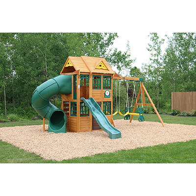 KidKraft Charleston Lodge Wooden Swing Set