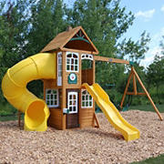 KidKraft Lewiston Retreat Wooden Swing Set and Play Set