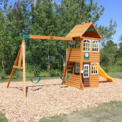 KidKraft Willowbrook Wooden Swing Set and Play Set