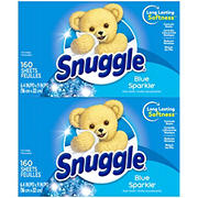 Snuggle Blue Sparkle Fabric Softener Dryer Sheets, 320 ct.
