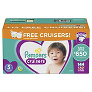 Pampers Cruisers Diapers Bonus Pack, Size 5, 144 ct.