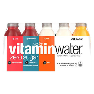 Glaceau Vitaminwater Zero Variety Pack, 20 pk./20 fl. oz.