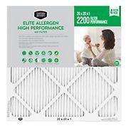 """Berkley Jensen 20"""" x 20"""" x 1"""" Elite Allergen High Performance Air Filter"""