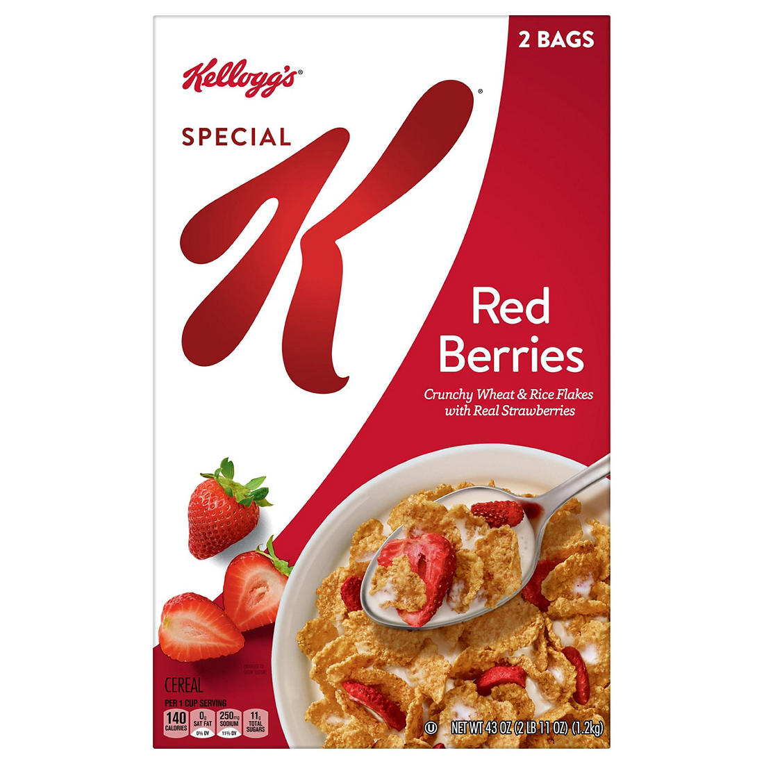 Kellogg S Special K With Berries Cereal 43 Oz