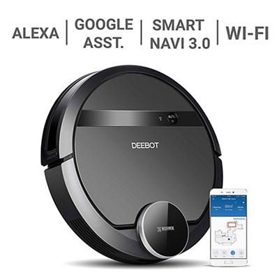 ECOVACS DEEBOT 901 Robotic Vacuum Cleaner with Smart Navigation and Ma