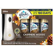 Glade Automatic Spray, Cashmere Woods with 3 Refills