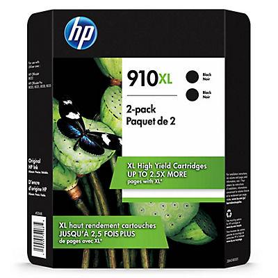 HP 910XL Black Ink Cartridges, 2 pk.