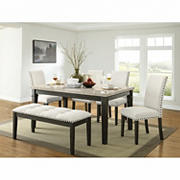 Picket House Furnishings Brady 6-Pc. Standard Height Dining Set - Beige