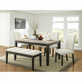 Picket House Furnishings Brady 6-Piece Standard Height Dining Set