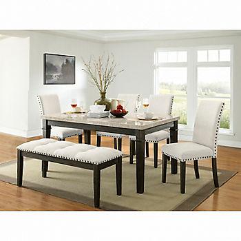 Picket House Furnishings Brady 6-Piece Standard Height Dining Set