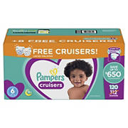 Pampers Cruisers Diapers Bonus Pack, Size 6, 120 ct.
