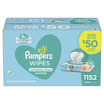 Pampers Baby Wipes Complete Clean Scented, 1152 ct.