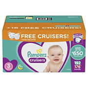Pampers Cruisers Diapers Bonus Pack, Size 3, 192 ct.