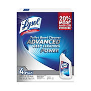Lysol Toilet Bowl Cleaner Advanced Deep Cleaning Power, 4 pk.