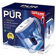 PUR Ultimate Water Pitcher with Two Bonus Replacement Filters
