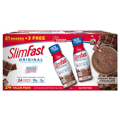 SlimFast Original Creamy Milk Chocolate, 24pk