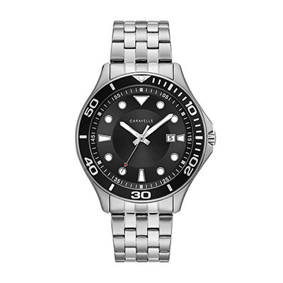 Caravelle Men's Dive Style Watch in Stainless Steel