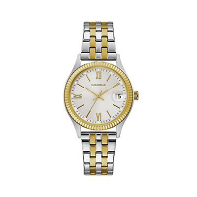 Caravelle Women's Dress Watch in Gold Tone Stainless Steel