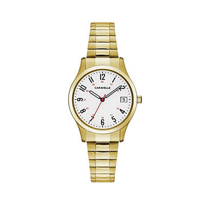 Caravelle Women's Easy Reader Watch in Gold Tone Stainless Steel