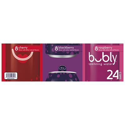 Bubly Sparkling Water Variety Pack, 24 pk./12 oz.