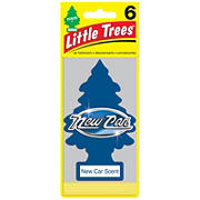 Little Tree New Car Scent Air Fresheners, 6 pk.
