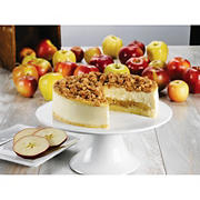 "Junior's 8"" Apple Crumb Cheesecake, 48 oz."