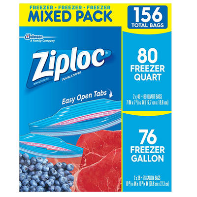 Ziploc Mixed Freezer Pack, 156 ct.