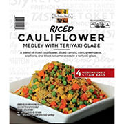 The Perfect Bite Co. Riced Cauliflower Medley with Teriyaki Glaze, 4 ct.