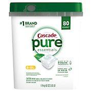 Cascade Pure Essentials Lemon Essence ActionPacs, 80 ct.