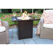 "Global Outdoors 30"" Steel Square Gas Fire Pit"