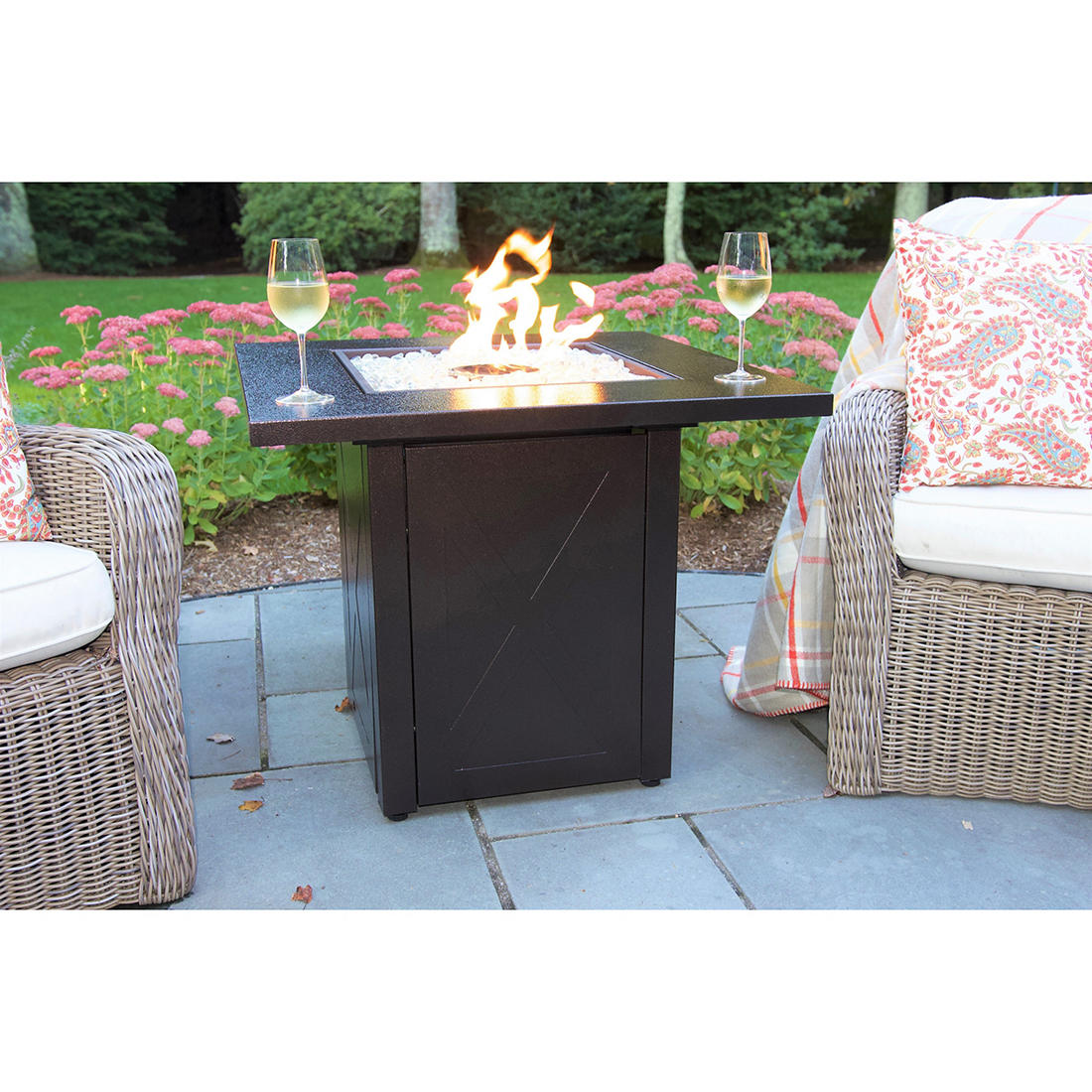 Steel Square Gas Fire Pit