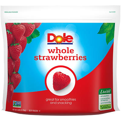 Dole Whole Strawberries, 96 oz.
