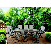 Berkley Jensen Rowley 9PC Aluminum Sling Dining Set