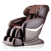 Lifesmart Ultimate Zero Gravity Faux Leather Massage Chair - Brown Interior/Black Exterior