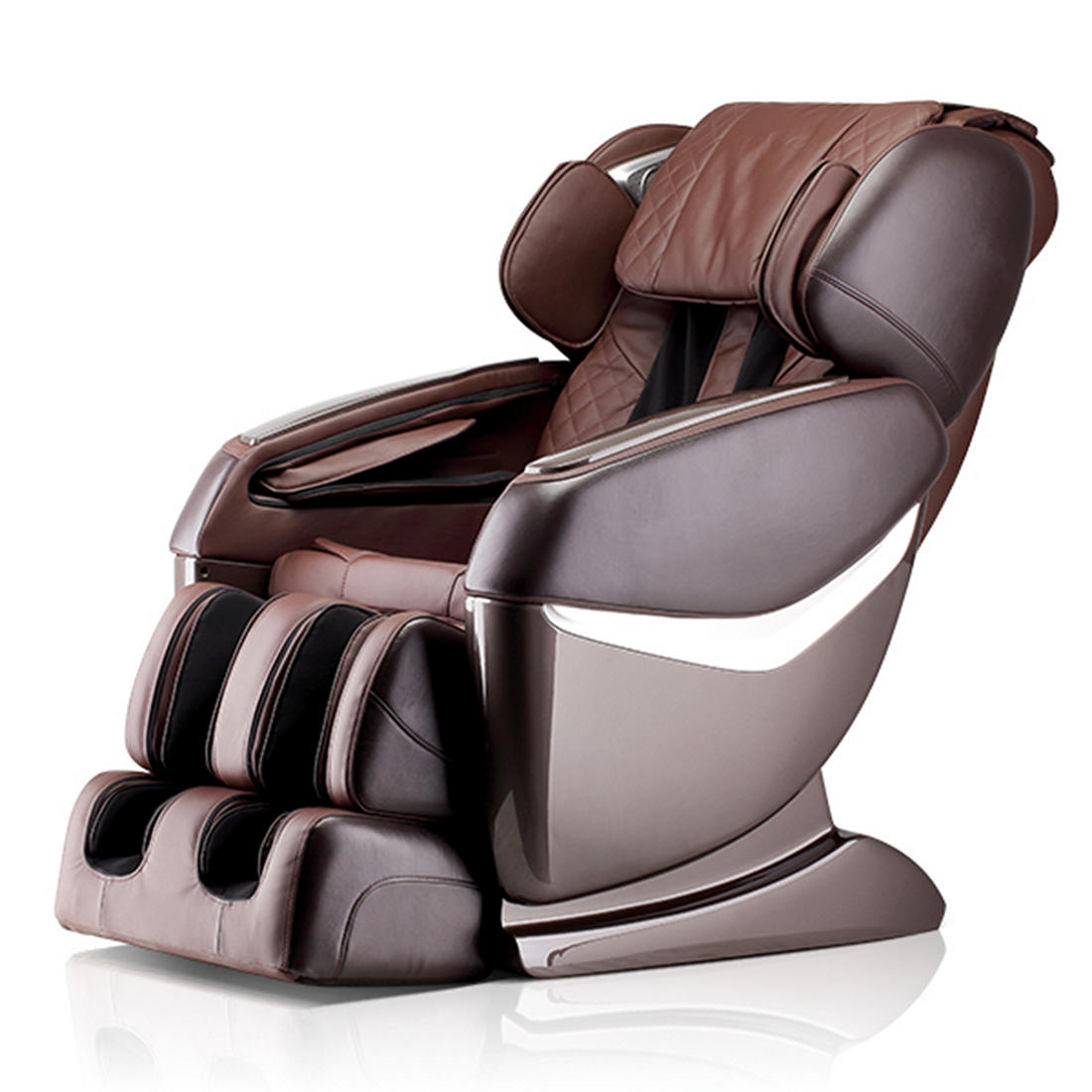 Fabulous Lifesmart Ultimate Zero Gravity Faux Leather Massage Chair Brown Interior Black Exterior Cjindustries Chair Design For Home Cjindustriesco