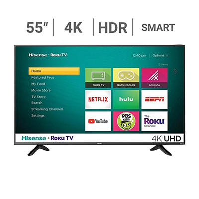 "Hisense 55R7E 55"" UHD 4K HDR Roku Smart LED TV"