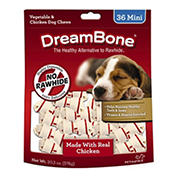 DreamBone Mini Vegetable and Chicken Dog Chews, 36 ct.