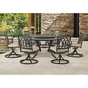 Berkley Jensen New Port 7-Pc. Dining Set with Lazy Susan