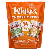 Whisps Parmesan & Cheddar Cheese Crisps Variety Pack, 14 ct.